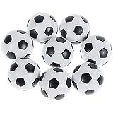 Goldge 8 PCS Tischfußball Kickerbälle,Tischfußball Kugeln Mini Ball,Schwarz und Weiß
