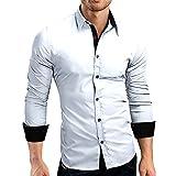 Bellelove Poloshirt Herren Langarm Basic T-Shirt Freizeit spleißen Polohemd Casual Top Blouse