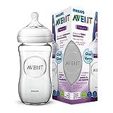 Philips Avent Natural Flasche SCF053/17, 240 ml, naturnahes Trinkverhalten, Anti-Kolik-System, aus...