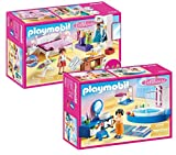 Playmobil® Möbelset für 70205 Dollhouse Puppenhaus oder 9266 Modernes Wohnhaus: 70208...