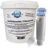 1 L Nachfüllgranulat & 2 Refill-Filter für Melitta Caffeo Ci, Barista, Varianza