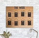HomeZone 7 Tage schwarze Tafel für Kinder, Zuhause, Schule, Wochenplaner, Memo-Tafel, Kreidetafel,...