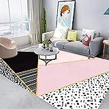 LAMEDER Home Wohnzimmer Teppich,Waschbarer moderner minimalistischer Hauptwohnzimmerbalkon des...