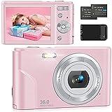 Digitalkamera 1080P Kompaktkamera Fotokamera 36MP 2,4' LCD Mini Digital Camera mit 16X Digitalzoom,...