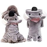 nobrand TEYUN Hunde-Bekleidung for Kostm-Welpen-Pullover Kaninchen Hundemantel Jacke (Color : Gray,...
