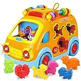 REMOKING Auto Spielzeug Kinder, Elektronisches Musikbus-Spielzeugauto, Motorikspielzeug Geschenke...