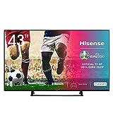 Hisense 43AE7200F 108 cm (43 Zoll) Fernseher (4K Ultra HD, HDR, Triple Tuner DVB-C/S/S2/T/T2, Smart...