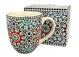 Duo Jumbotasse Becher XXL Marokko folkloristische Deko 900 ml Porzellan Trinkbecher Smoothie Becher...