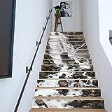 Amaonm 13 Stück 17,8 cm H x 99,9 B Kreative dekorative 3D-Wasserfall-Bergwasser-Treppen-Aufkleber...