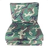 HRFBBY 0,4 mm Camouflage wasserdichte Canvas mit Ösen, Isolierung Outdoor/Reißfestigkeit Plane LKW...