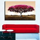 wukongsun Rotes digitales hochauflösendes rahmenloses Wandplakat Glücksbaum Ahornbaum für das...