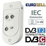 Eurosell - Kabel Fernsehen TV CATV Zweigeräteverstärker - Highend Full HD Digital TV-Verstärker...