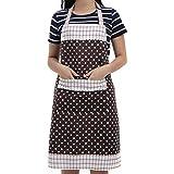 Veewon Damen Küchenschürze mit Taschen Restaurant Flirty Schürzen für Damen Koch, Cupcake, Cafe...