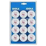 JOOLA Tischtennis-Bälle Training 40mm, Weiß, 12er Blister Pack