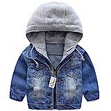 Jungen Jeansjacke Kinder Jeans Jacke Mantel Kapuze Langarm Blau Denim Tops Kleidung ReißVerschluss...