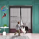 WISKEO Moskitonetz Fliegengitter Tür Fenster magnetisch, Mücken, selbstklebend, anpassbar,...