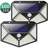 Solarleuchte für Außen,[Erweiterte Version -2 Stück] kilponen 100 LED Solarlampen Außen mit...