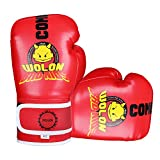 Kinder Boxhandschuhe 4oz Kinder Cartoon Sparring Boxhandschuhe Training Mitts Junior Punch PU Leder...