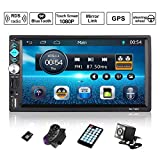 OUTAD Autoradio GPS Navigation, Wince 7'' 1080P Touchscreen 2 DIN, Mirrorlink/Bluetooth...