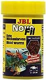 JBL NovoFil 30260, Ergänzungsfutter für wählerische Aquarienfische, Rote Mückenlarven, 100 ml