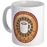 CafePress - Sofortige Video-Editor-Tasse – Einzigartige Kaffeetasse, Kaffeetasse, Teetasse