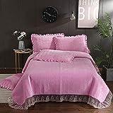 BDTOT Gesteppt Tagesdecke Überwurf Bettüberwurf Steppdecke Husse Decke Bettdecke 3 Stück...