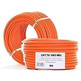 AnKa-Digital Cat 7 Ethernetkabel 5m halogenfrei 1000 MHz Kupfer Cat7 Netzwerkkabel S-FTP/PIMF...