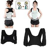 Adults & Teens Posture Corrector Rückenstütze, atmungsaktiv Verstellbare obere Rückenstütze...