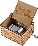 Freudlich 'You Are My Sunshine' Hölzerne Spieluhr, Laser graviert Vintage Holz Sonnenschein...