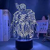 3D Kreative Nachtlicht Anime LED Licht Berserk Mut Figur für Schlafzimmer Deko Nachtlicht...