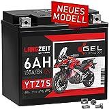 LANGZEIT YTZ7S GEL Motorradbatterie 12V 6Ah 155A/EN TTZ7S-BS YTZ7-S GEL12-7Z-S 50602 Gel Batterie...