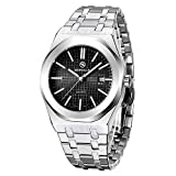 BERSIGAR Herren Stylish Sophisticated Quarzuhr Herren Analog Quartz Wrist Watch Edelstahlarmband,...
