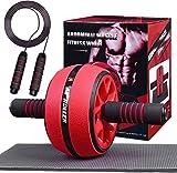 AB Roller Bauchtrainer mit Springseil, 2 In 1 Fitness Geräte, Bauchroller Tragbare Geräte für...