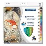 dreieckig Aquarell Bleistift Set, H/# 3, 2,9mm, 24sortierte Farben