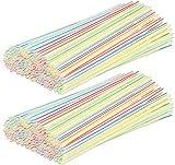com-four 400 Flexible Trinkhalme, Strohhalme in verschiedenen bunten Farben (400 Stück - bunt...