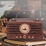 Klassischer Retro-FM-Radio-Empfänger, tragbar, Dekoration, MP3, Radio, Stereo, Bluetooth, AUX, USB,...