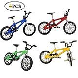 Reastar 4 Stück Finger Fahrrad Mini Fahrrad Spielzeug Legierung Finger Mountainbike Modell...