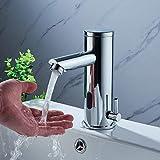 Badarmatur mit Infrarot Sensor YUNRUX Automatisch kalt hei Waschbecken Wasserhahn Einhebel...