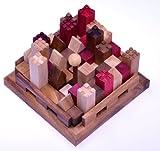 LOGOPLAY Castle - Burg - 3D Puzzle - Denkspiel - Knobelspiel - Geduldspiel - Logikspiel aus Holz mit...