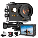 Yolansin Action Cam 4K 20MP WiFi 40M wasserdichte Unterwasserkamera EIS Sportkamera mit 170 °...
