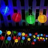 Solar Outdoor Lichterkette Bawoo 30er 6m Led Lampion Laterne Lichterkette Außen Warmweiß...