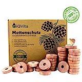 Natürlicher Mottenschutz aus Zedernholz – 40 Mottenringe – 100% Naturprodukt – Hervorragende...