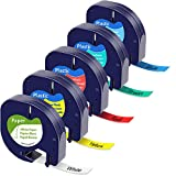 5x MarkField Kompatible Schriftband als Ersatz für Dymo Letratag Kunststoff Etikettenband 12mm...
