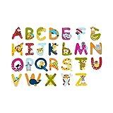 solini Holzbuchstaben mit Tiermotiven - Buchstaben aus Holz für Kinderzimmertüren - farbenfrohe...