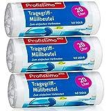 Müllbeutel mit Tragegriff - 20 Liter - Reißfest & Flüssigkeitsdicht - 3er Pack - 120 Stück ( 3 x...