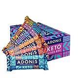 Adonis Keto Riegel | Gemischte Snack Box | 100% Natürliche Nuss Snacks, Low Carb, Vegan, Low Sugar,...