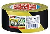 tesa Markierungsklebeband für die temporäre Kennzeichnung von Gefahrenstellen - Gestreiftes...