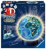 Ravensburger 3D Puzzle 11844 - Nachtlicht Erde bei Nacht - 72 Teile - Puzzle-Ball Globus ab 6...