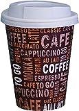 Gastro-Bedarf-Gutheil 100 Kaffeebecher Pappe 300ml / 12oz Pappbecher Einwegbecher EINWEG Coffee to...