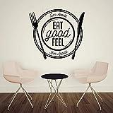 Wandtattoo Aufkleber Tapete 42X46 cm Essen Sie Gutes Gefühl Guten Appetit Esszimmer Restaurant...